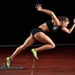 Sprinterin Friederike Möhlenkamp Startblock Deutsche Vizemeisterin 400 m Lauf